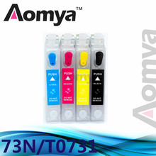 Empty 73N T0731 Refillable Ink Cartridge For Epson Stylus CX3900/4900/4905/5500/5510/5600/5900/6900F/7300/7310/8300/9300F/90/92(China)