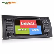 Android 7.1.1  Quad Core 1024 600 Car Video DVD Player For E39 E53 Radio Rds GPS Navigation bluetooth Screen Wifi