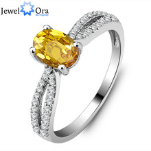 Genuine 925 Jewelry Natural Citrine Ring 925 Sterling Silver Rings For Women (JewelOra Ri101281)