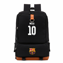 Canvas Backpack Men Laptop 2017 Messi Bag male Luminous Footbal Back Pack 15.6 Travel Bags Rucksack School Bag for Teenager Boys