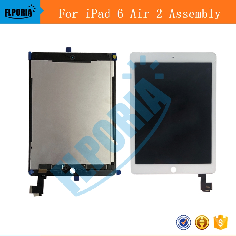 IPHT0222 A1567 A1566 LCD Digitizer Assembly For iPad Air 2 LCD Screen Assembly Display Digitizer Assembly Black White (5c)