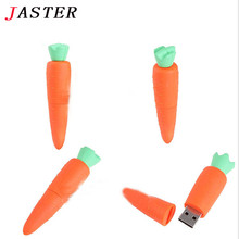 JASTER New carrot USB 2.0 Memory Stick Flash pen Drive 4GB 8GB 16GB 32GB funny vegetable USB creativo rabbit Free shipping