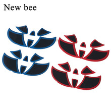 Newbee Car Styling Steering Wheel Front Rear Emblem Badge Logo Sticker Decal For Toyota Highland Camry Corolla RAV4 Alphard(China)