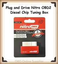 2016 Latest NitroOBD2 Diesel Car Chip Tuning Box Plug and Drive OBD2 Chip Tuning Box More Power / More Torque free shipping