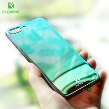 FLOVEME Luxury Mirror Phone Cases For iPhone 5s 5 7 7 Plus Gray/Green Cover for iPhone 6 6s 6 Plus Case Plating + Hard Back Capa(China)