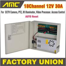 CCTV Power Box 18 Channel 12V 30A Support PTZ IR Illuminator Access Control for 18CH DVR CCTV Camera Power Supply