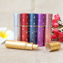 10ml Amazing Travel Perfume Atomizer Refillable Spray Empty Perfume Bottle Aluminum Glass Mini Cent Bottles Best Gifts Free Ship