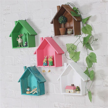 DIY Wooden Decor Garden Home House Storage Case Holder Box Wall Hanging Decorative Storage Box Flower Pot House Storage Racks