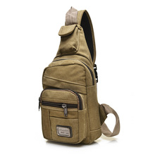 Hot 2017 Fashion Vintage Men Crossbody Bags Chest Canvas Water Proof Handbags For Male Military Shoulder Bag Bolsas