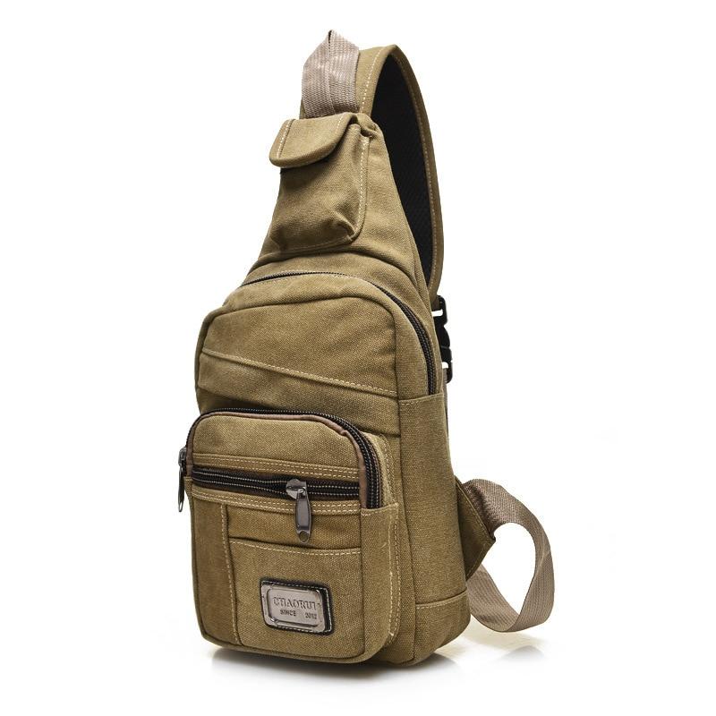 Hot 2017 Fashion Vintage Men Crossbody Bags Chest Canvas Water Proof Handbags For Male Military Shoulder Bag Bolsas<br><br>Aliexpress