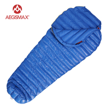AEGISMAX M2 Filling 380g/420g  800FR Ultralight Outdoor Mummy White Goose Down Camping Hiking Sleeping Bag Spring and Autumn