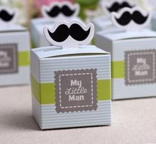 10pc my little man moustache favor box baby shower favor candy box gift box kids children birthday party favor box