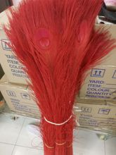 Free shipping wholesale high quality 20pcs Rare natural  peacock feather 80-90cm / 32-36inch  decorative diy red