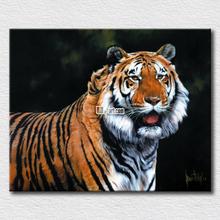 Canvas picture tiger paintings hang on the living room wall decoration high quality arts gift for relatives