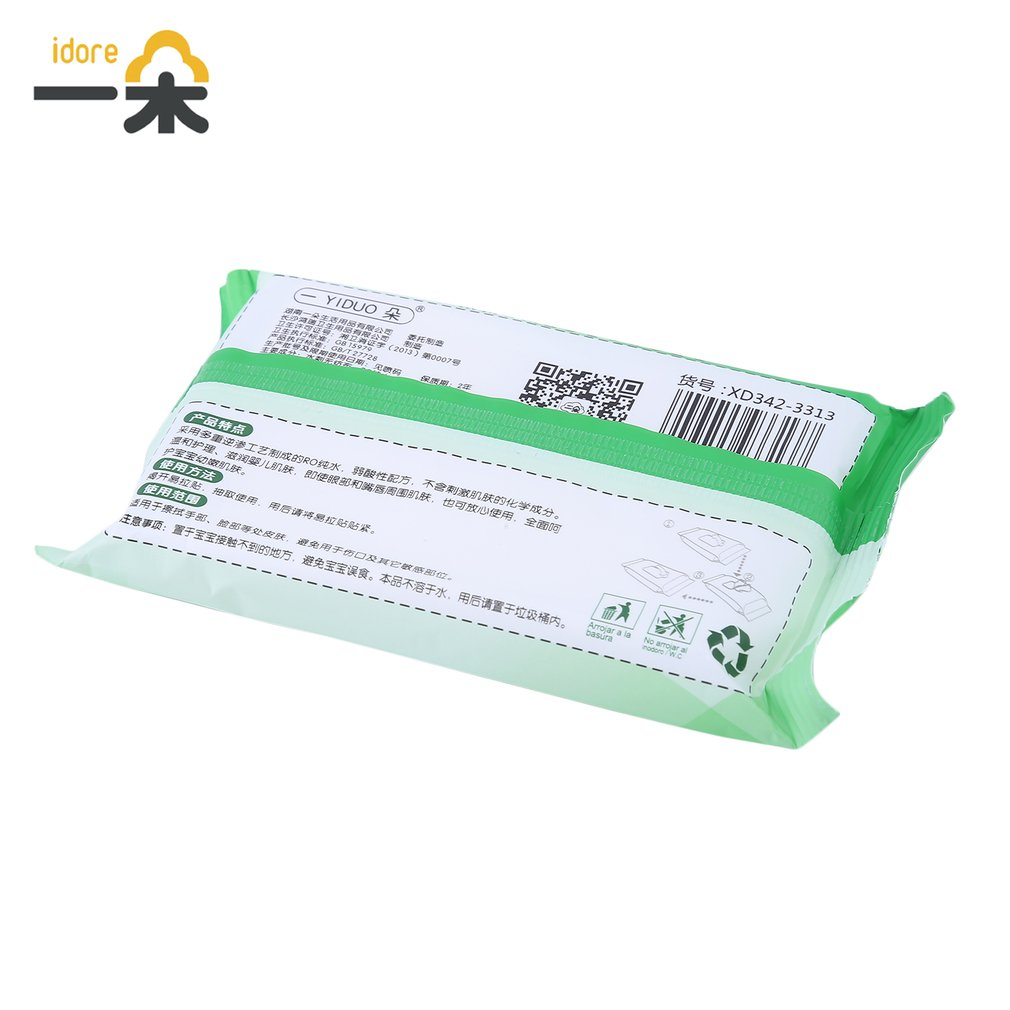 100pcs/10 Pack Idore Newborn Baby Wet Wipes Fresh Soft Moist Toddler Infant Disposable Portable Tissue Skin Clean Care Wet Wipes 7