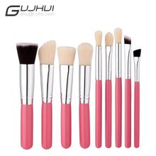 GUJHUI Excellent Quality 9 pcs Cosmetic Makeup Brush Blusher Eye Shadow Brushes Set Kit pinceis conjunto Anne