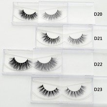 Lash 1 pair 3D Mink Eyelash Real Mink Handmade Crossing Lashes Individual Strip Thick Lash Fake Eyelashes Makeup Beauty(China)