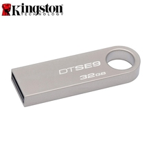 Original Kingston Flash Disk DTSE9 USB 2.0 8GB 16GB 32GB Metal Material Data Traveler SE9 USB Flash Drive Memory USB Stick #0(China)