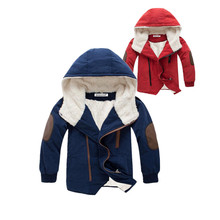 3-6 yrs 2017 New Children Jackets Boys Fashion hooded with fur Outerwear Warm Winter baby boy jacket warm children clothing