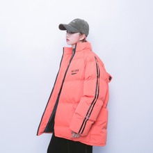 Jasmine Street hit color reflective thick cotton padded jacket and winter(China)