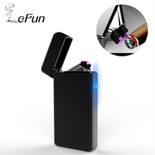 New Design Pipe USB Charging Flameless Electronic Pulsed Lighters Cross Dual Arc Windproof Plasma Cigar Cigarette Lighter