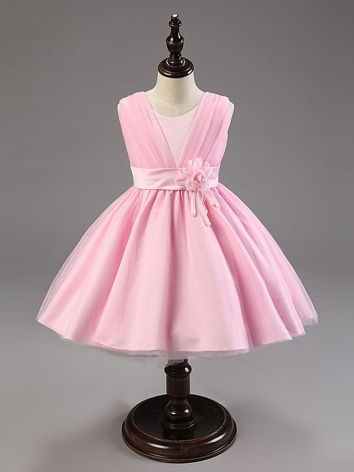 fashion latest 2017 wrap light pink kids wedding flower girl bridesmaid dresses for children<br><br>Aliexpress