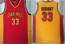 2018 Embroidery Stitched Men Basketball Jerseys Kevin Durant Jersey 33 Shirt Oak Hill High School Throwback for fan gift(China)