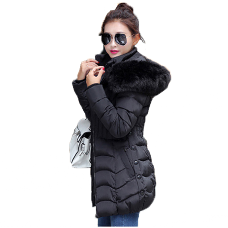 Fur hoodie New feather coat thin slim thickening cotton-padded jacket womens 2106 winter 3 colors puls big size 4xl YRF161114Одежда и ак�е��уары<br><br><br>Aliexpress