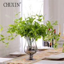 Flower vine/rattan artificial plant leaves bonsai Vitality silk Green wicker DIY Flower arranging accessories plant 1pcs