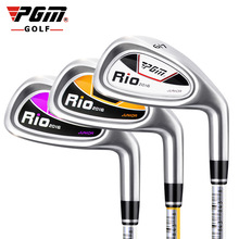 Authentic PGM Children's Girl Golf Clubs Iron Driver for Boy 7 Iron Right-hand Inferior Steel Exercise Cartoon Ultralight Club(China)