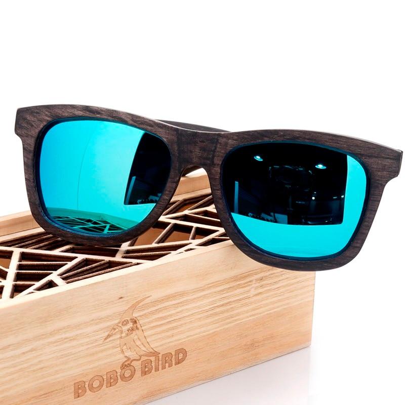 BOBO BIRD New Desgin Mens Sunglasses Original Wooden Sunglasse Casual Polarized Lens Sunglasses for Men With Wood Gift Box 2017<br><br>Aliexpress