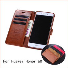 For Huawei Honor 6C Case 5.0 Inch Luxury Wallet PU Leather Phone Case For Huawei Honor 6C Case Book Flip Protective Cover Bag