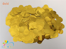 1inch(2.5CM) 30g/bag Metallic Gold Circle Confetti Dots Filling Balloons Party Table Decorations(China)