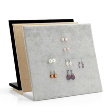 Fashion L-type Jewelry Display Stand Earrings Holder Earring Display Stand 3 Color Hot Sale Gift Shelf Show Case Organizer Tray