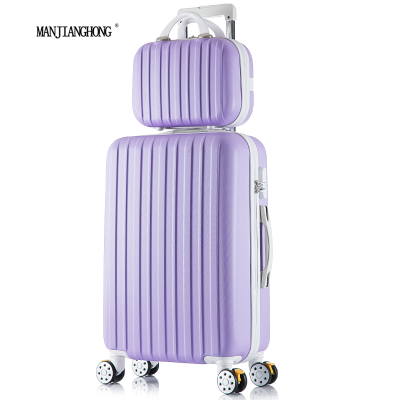 24+12inch New surface like sandpaper stripes trolley suitcase sets/ 20 boarding luggage/10Colors universal wheels trolley candy<br><br>Aliexpress