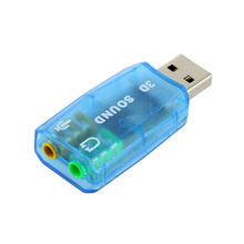 Portable Compact 3D Audio Card USB 1.1 Mic / Speaker Adapter 7.1 CH Surround Sound for PC Computer Laptop In stock!