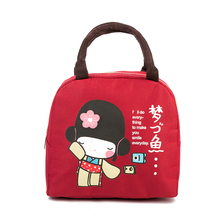 2017 Japan Little Girl Lunch Bag Lunch Box  Handbag Oxford Cloth Intensification Heat Preservation Bags Waterproof Lunch Boxes