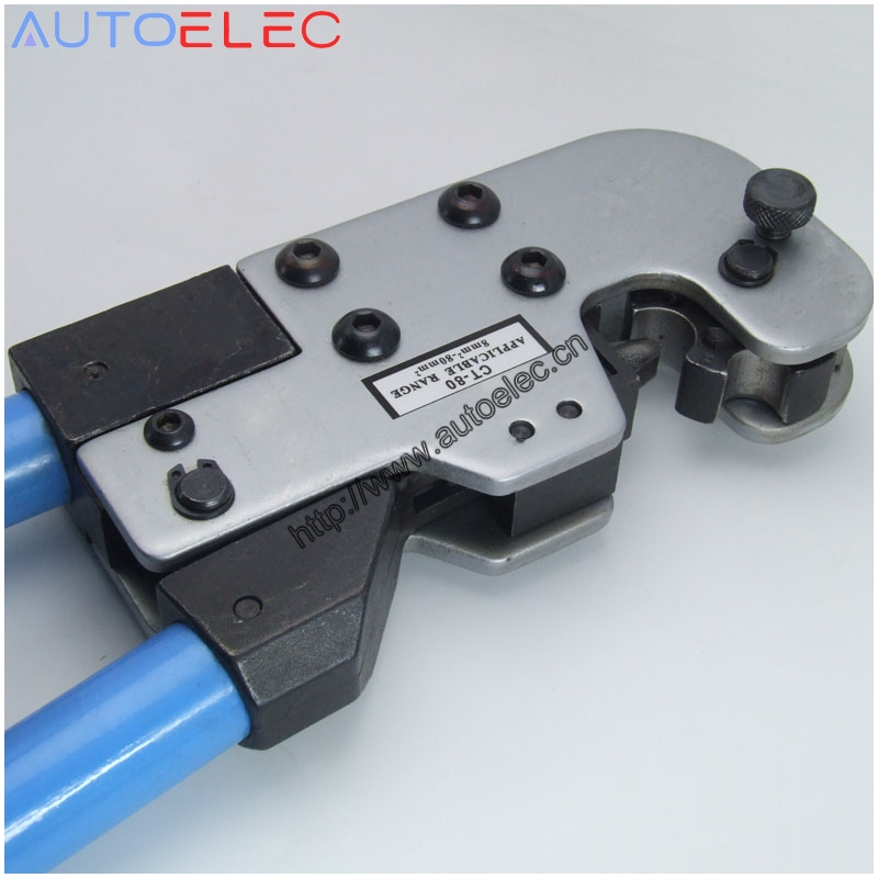 Copper tube terminal crimping tool 8-80mm2 AWG CT-80 for non-welding crimping complied with standard electrical connection<br>