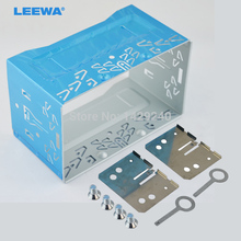 LEEWA car refitting dvd frame/front bezel/audio panel for ISO 2DIN Installation Cage Metal Cage With Brackets/Screws/Keys(China)