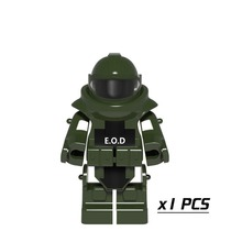 Green Anti-explosion Clothing Single Sale Mini Dolls Future Weapons Armor Models & Building Blocks Toys for Children PGPJ 4028