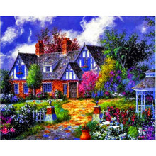 DIY Diamond Painting Landscape Garden Cottage New 5D Cross Stitch Pattern Resin Diamond Embroidery Mosaic Full Drill Deco