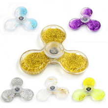 Dynamic Liquid Glitter Sand Tri Fidget Spinner Hand Spinner Glowing Finger Stress Cube Focus KeepToy and EDC Anti Stress Toy A15