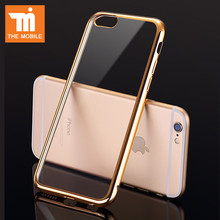 Soft Tpu Transparent Back Cover Case For iPhone 7 7 Plus Cover Full Body Bag Case For iPhone 6 7 5 5s SE 6s Plus Cases Gold