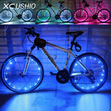 18 LED Waterproof Colorful Mountain Bike Led Wheel Spoke Light Bike Tire Light for Bicycle Motorcycle Night Safety Cycling Lamp