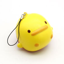 Mobile Phone Straps Squishy Toys Strap PU Little Duck Slow Rising Soft Press Doll Squeeze Kawaii Gift Random Color