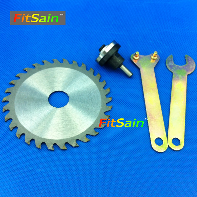 FitSain--4 saw blades for wood plastic  Cutting Discs Conversion shaft Connecting rod 6.1mm<br><br>Aliexpress