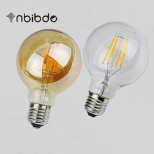 LED Dimmer Lamp Amber Clear G80 E27 Vintage Edison Filament Light Bulb For Home Decor Energy Saving Lamp Lampade ampoule
