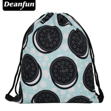 Deanfun 3D Printing Women Drawstring Bag Food Backpack High Quality Backpacks S95