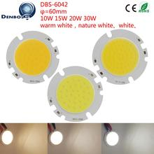 10PCS/Lot LED COB Light Source 6042 manufacturer Globe 60mm Round High lumen Module 10W 15W 20W 30W COB for Downlight lamp(China)
