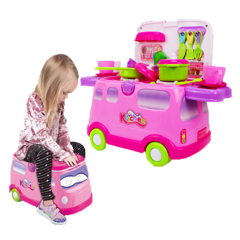 2 In 1 Simulation kitchen Multifunction Dining Car Early Educational Children Toys Kitchenware Table Kitchen Cooking Pots TY0125<br><br>Aliexpress